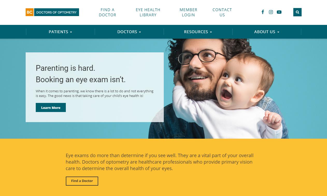 BC Doctors of Optometry header image